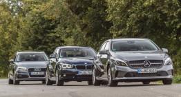 FIRST COMPARISON TEST Mercedes-Benz A 180 versus Audi A3 Sportback 1.4 TFSI, BMW 118i