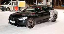 2017 Mercedes C-Class Cabrio caught again in full testing suit