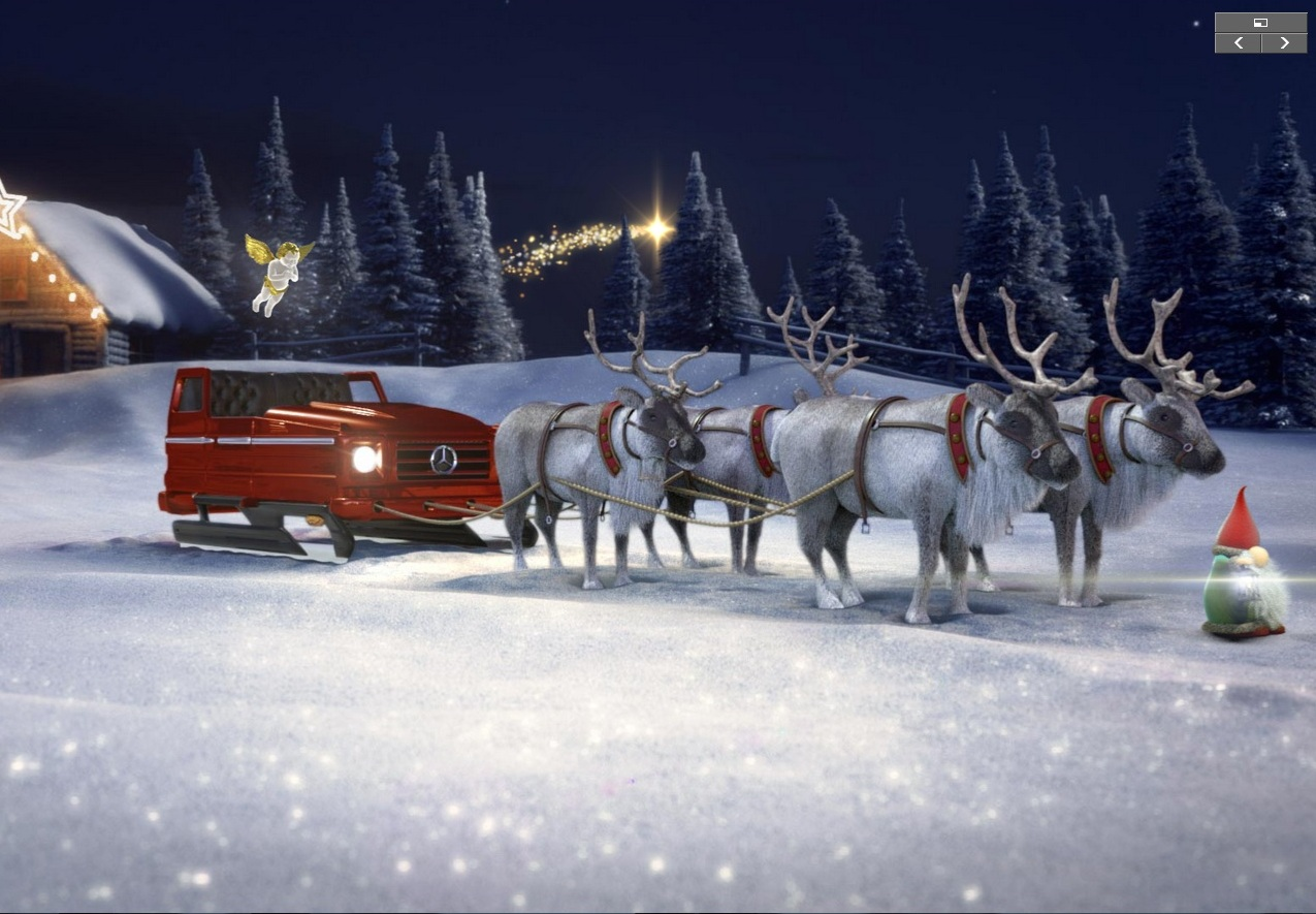 2018 Gle 350 >> Merry Christmas! Santa's sleigh is a Mercedes and you can