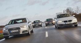 Turbo battle: New Audi A4 versus BMW 3er, Mercedes C-Class, VW Passat