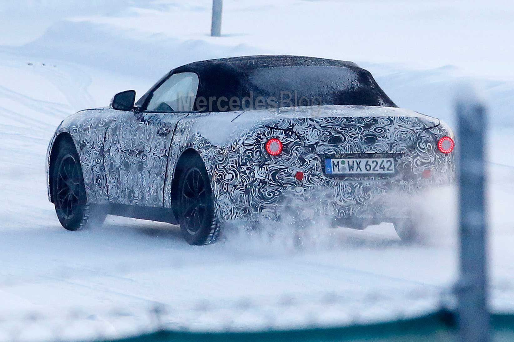 Bmw z5 spied mercedes slc rival comes out for winter for Mercedes benz winter event commercial