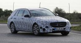 2017 Mercedes E-Class T-Modell revealed in first spy pics