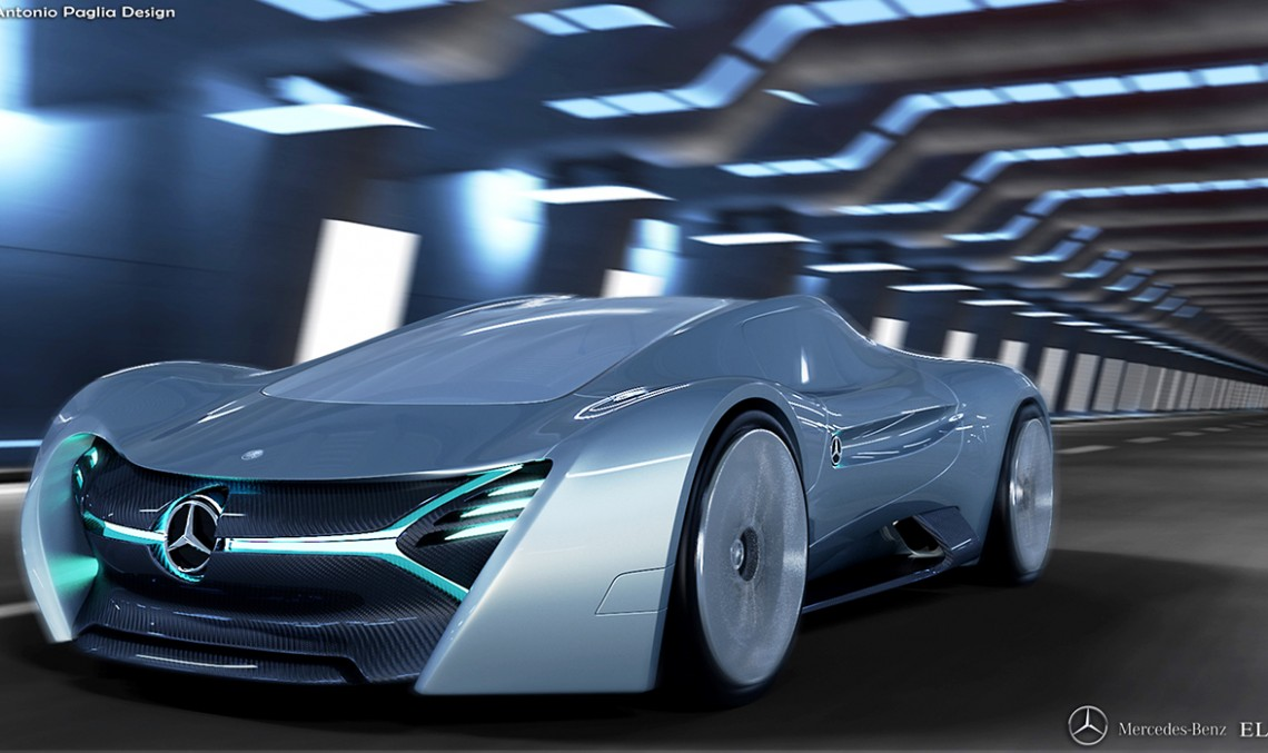 The Mercedes-Benz ELK electric supercar – Imagination knows no limitation