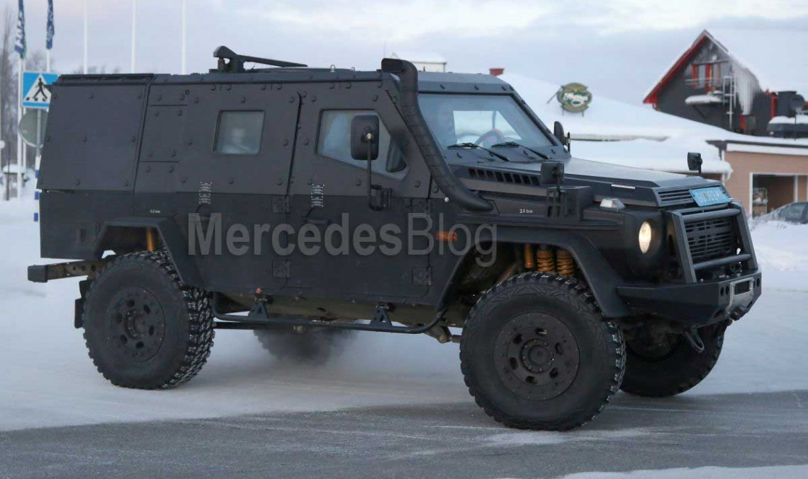 Mercedes G-Class LAPV. Panzer armored G 500 4X4² spied ...