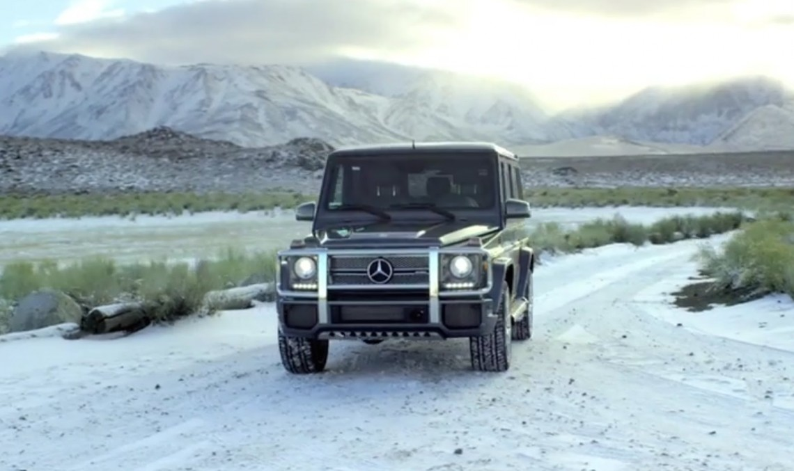 From sea to ski in a Mercedes-AMG G65