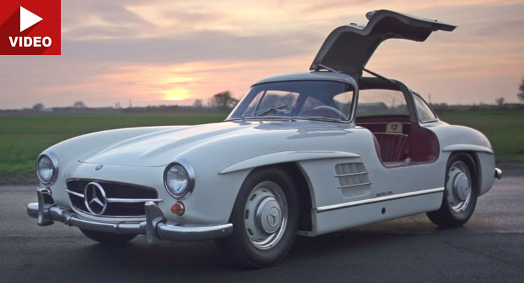 Mercedes Gullwing 300 SL driven by EVO. The fastest car of its age?