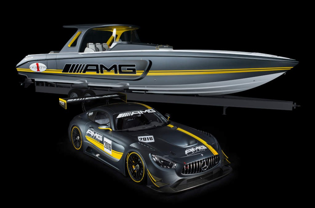 The strongest powerboat is inspired by the Mercedes-AMG GT3
