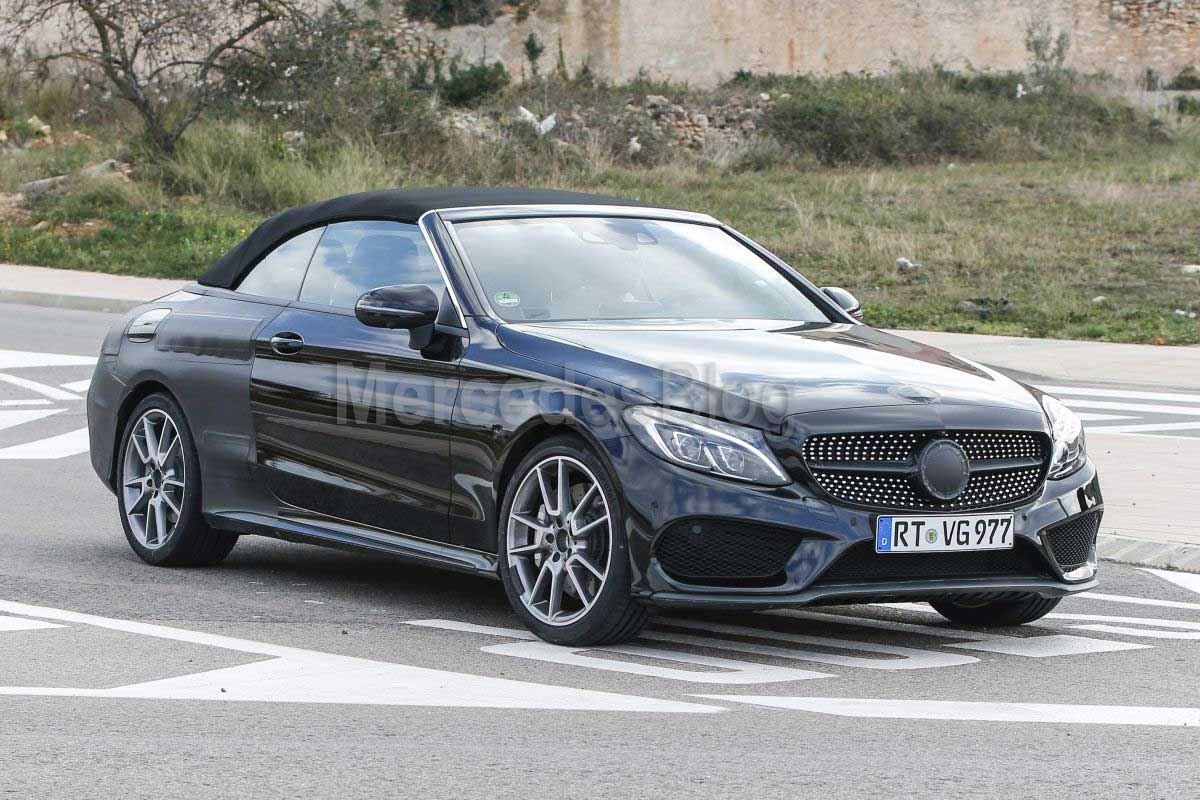 mercedes c class cabrio spied one last time before geneva mercedesblog. Black Bedroom Furniture Sets. Home Design Ideas