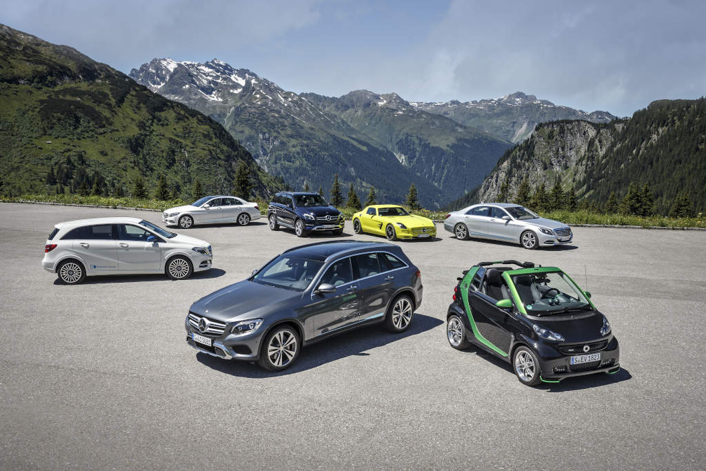 Silvretta E-Auto Rallye 2015: Mercedes-Benz and smart on e-mission in Montafo electric