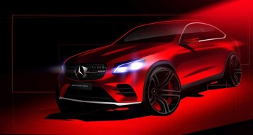 Coming soon! The Mercedes-Benz GLC Coupe teased again