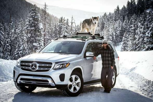 Exploring the Colorado Mountains in a Mercedes-Benz GLS and with a husky dog