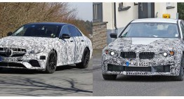 SPY GAME: New BMW M5 versus Mercedes-AMG E 63