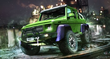 Hulk Mercedes G 63 6×6. Legendary green superhero found his ride
