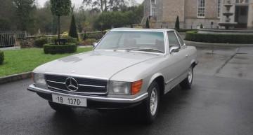 Ceausescu's Mercedes 350 SL for sale at Bonhams auction