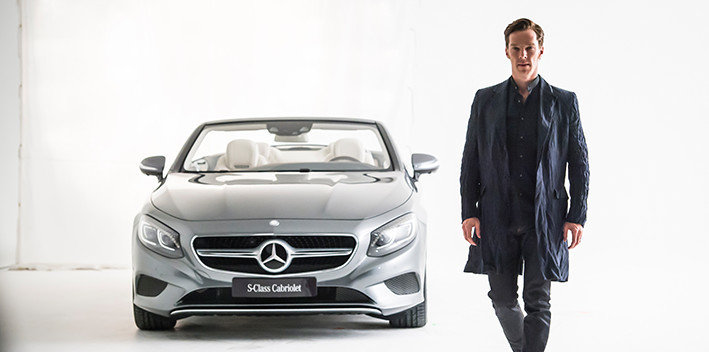 Best Dressed – Actor Benedict Cumberbatch meets Mercedes-Benz S-Class Cabriolet