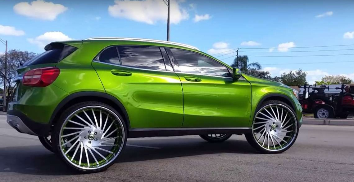 Mercedes Glc Coupe Tuning >> Apple green Mercedes-Benz GLA gets 26-inch Forgiato wheels for the hip hop videos - MercedesBlog