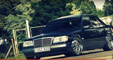 Limo in chains – Mercedes-Benz sedan with some S&M tuning