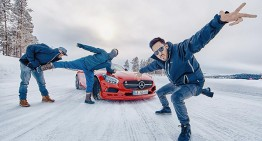 Linkin Park sets the ice on fire at the AMG Driving Academy