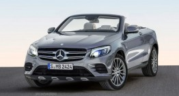Chop the top! The Mercedes-Benz GLC Cabriolet rendered
