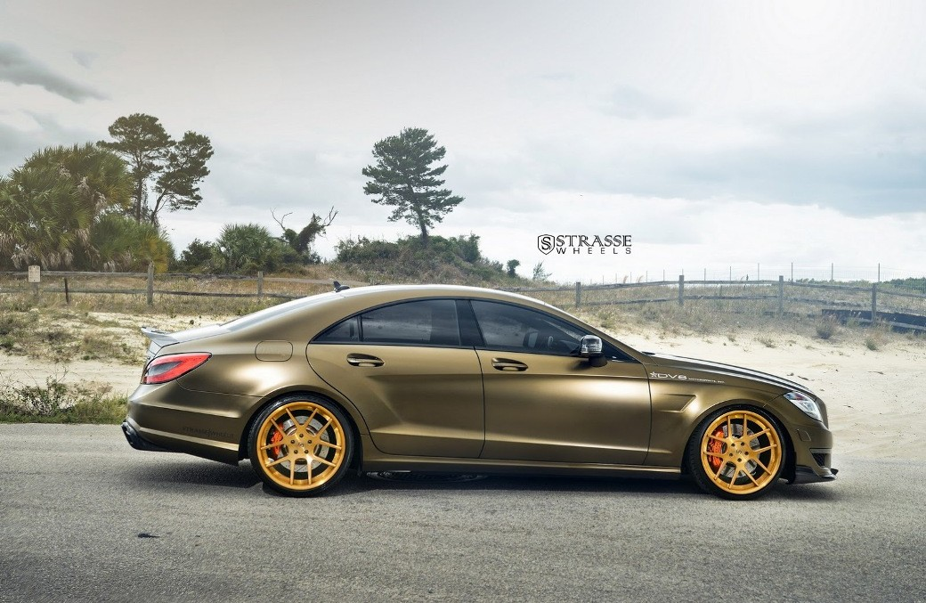 the bronze masterpiece mercedes cls 63 amg with strasse wheels mercedesblog. Black Bedroom Furniture Sets. Home Design Ideas