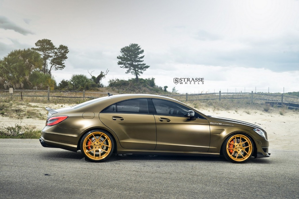 2016 Mercedes Benz Amg E 63 Sedan >> The Bronze Masterpiece - Mercedes CLS 63 AMG with Strasse wheels - MercedesBlog