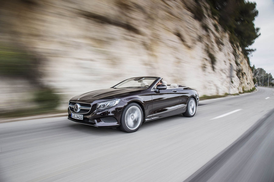 Simply the best. Mercedes S-Class Convertible driven in glitzy Nice