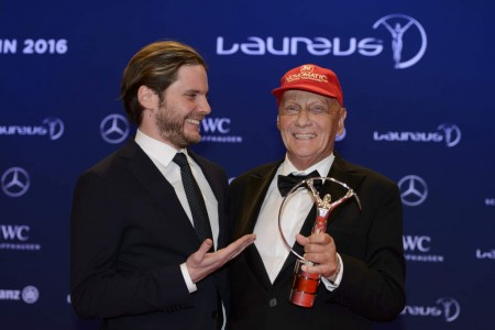 Daniel Bruhl and Niki Lauda Laureus