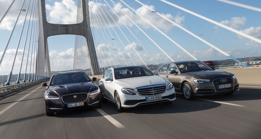 Eurovision 2016. Mercedes E-Class meets the Audi A6 and Jaguar XF