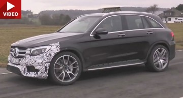 Hot new Mercedes GLC AMG super SUV spied on video