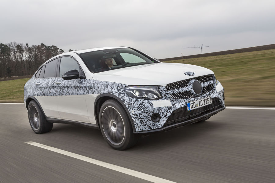 Mercedes GLC Coupe test. New SUV Coupe driven in GLC 300 ...