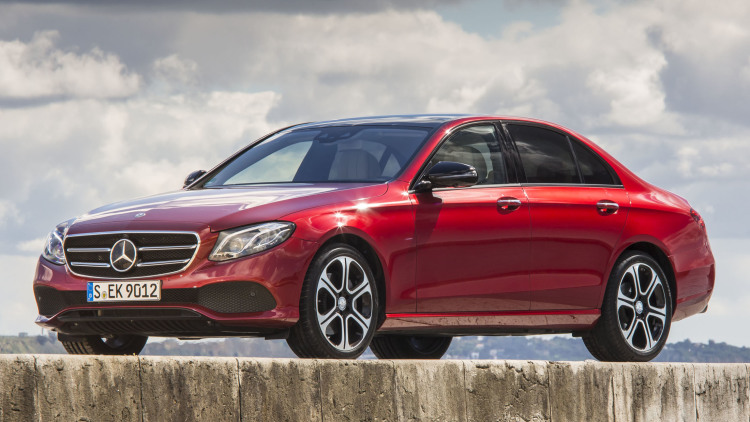 With the new E-Class at the continent's end
