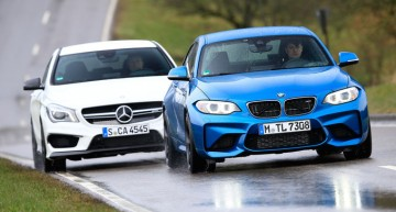 Test Mercedes CLA 45 AMG vs BMW M2 by Sport Auto