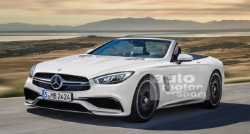 Mercedes SL 2019 with softtop