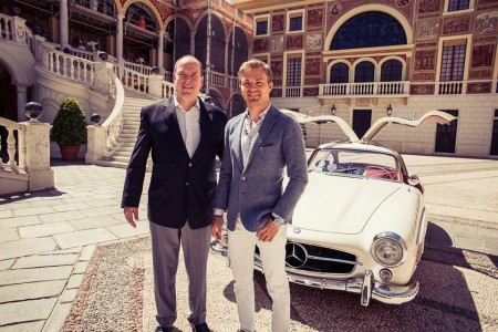 Rosberg and Prince Albert of Monaco