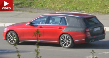 2017 Mercedes E-Class T-Modell shows up almost undisguised