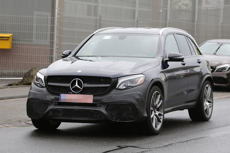 mercedes glc amg 63 sports suv revealed in new spy pics mercedesblog. Black Bedroom Furniture Sets. Home Design Ideas