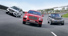 2017 Mercedes GLS faces-off against the superlative Bentley Bentayga, Range Rover