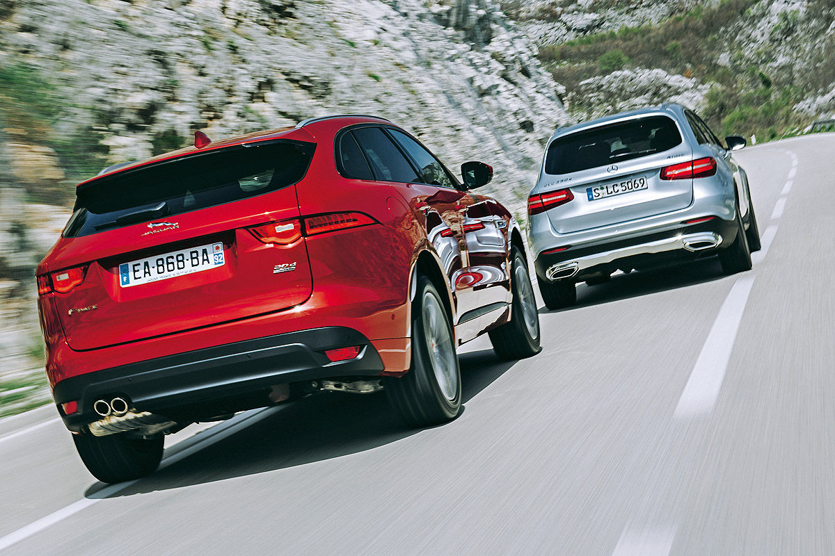 First Test Jaguar F Pace Versus Mercedes Glc New King Of