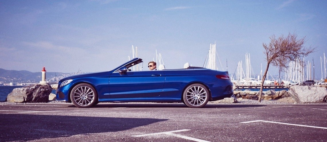 Topless in Saint Tropez with the Mercedes-Benz C-Class Cabriolet