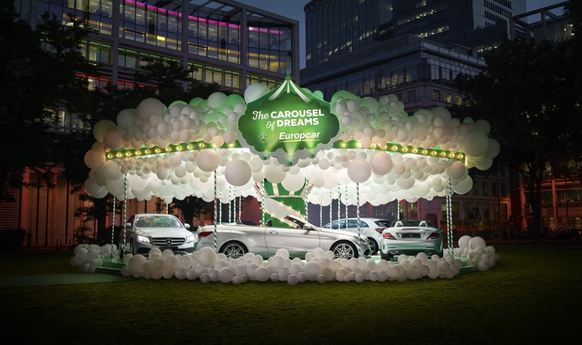 Mercedes-Benz and Europcar build the Carousel of Dreams in London