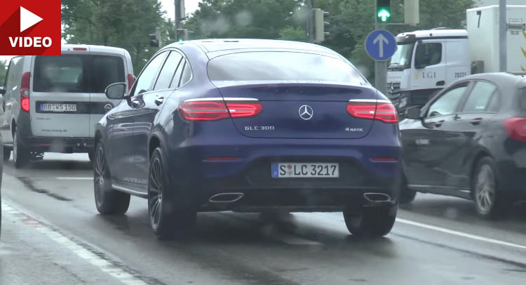 Mercedes GLC Coupe filmed for the first time in traffic