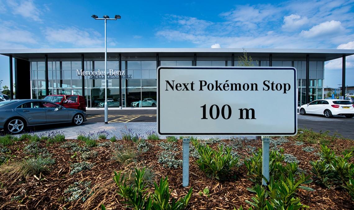The Pokemon Go craze hits Mercedes-Benz