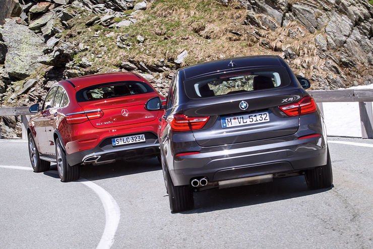 Gle Coupe Facelift 2018 >> FIRST COMPARISON TEST. Hot 2017 Mercedes GLC Coupe versus BMW X4 - MercedesBlog