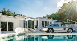 A Mercedes-Benz 300 SL gullwing in the master bedroom and a family obsessed with cars