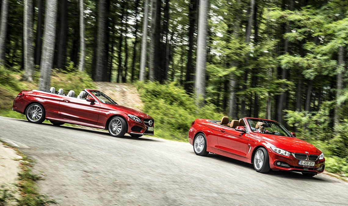 Comparative test Mercedes C 250 Cabrio vs BMW 420i Cabrio