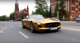The golden Mercedes SLS AMG – Irreversible eye damage