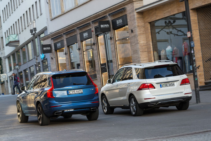 Mercerdes GLE 500 e 4Matic vs Volvo XC90 T8 AWD (25)