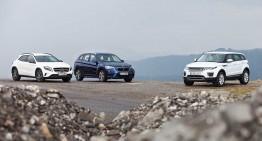 Best Compact SUV? Mercedes GLA versus Range Rover Evoque, BMW X1