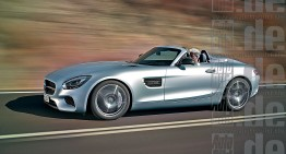 Mercedes-AMG GT C Roadster. Open top GT lands in Paris