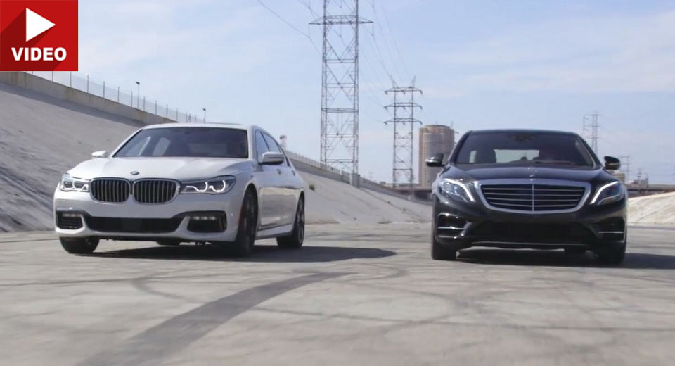 Clash of the Titans: Mercedes S 550 versus BMW 750i (video)